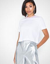 Calvin Klein Neck Logo Modern Straight Crop T