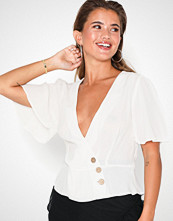 NLY Trend Button Wrap Blouse