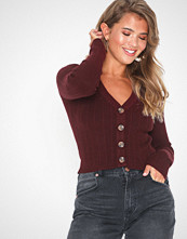 NLY Trend Cropped Rib Knit Cardigan