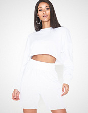 Missguided Crop Sweater Cycling Shorts Set
