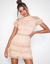 Ax Paris Short Sleeve Flounce Skater Dress