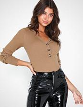 Vila Visolta Knit L/S Top/1 Mørk brun