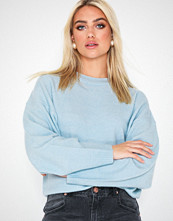 NLY Trend Sleeve Focus Knit Lys blå