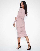 Ax Paris Long Sleeve Ruched Dress