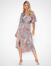 Ax Paris V Neck Belted Dress
