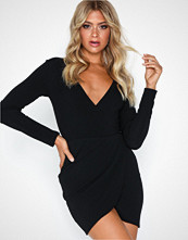 Ax Paris V Neck Crossover Dress