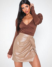 NLY One Leatherlook Slit Skirt