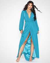 NLY Eve Deep Plunge Drapy Gown