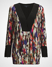 French Connection Record Ripple Drape Ls Tnc Top