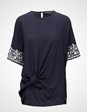 French Connection Jasmine Drape Ss Tie Wst Top