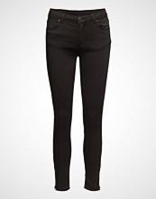 2nd One Nicole 006 Zip, Moon Black Satin, Jeans Skinny Jeans Svart 2ND