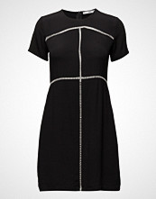 Mango Open-Work Trim Dress