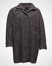 Violeta by Mango Check Wool-Blend Coat