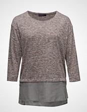 Violeta by Mango Flecked Contrast Hem T-Shirt