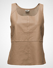 Twist & Tango Ellen Top T-shirts & Tops Sleeveless Beige TWIST & TANGO