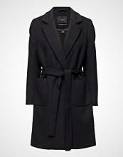 Scotch & Soda Wrap Over Coat In Soft Wool Blend Qualit