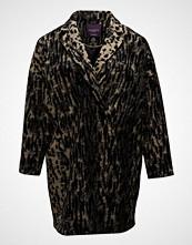 Violeta by Mango Animal Print Wool Coat
