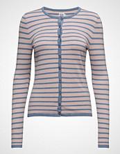 Saint Tropez Striped Cardigan W.Neon Stitch