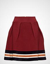 Maison Scotch Knitted Skirt With Sporty Stripes At Hem