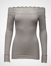 Rosemunde Silk T-Shirt Regular Ls W/Wide Lace