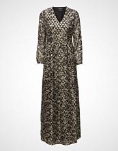 Maison Scotch Silk Lurex Jacquard Maxi Dress