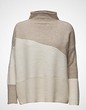 French Connection Patchwork Tonal Knit Ls Highnk