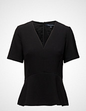 French Connection Arrow Crepe Ss Vnk Top