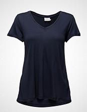 Kaffe Anna V-Neck T-Shirt T-shirts & Tops Short-sleeved Blå KAFFE