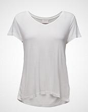 Kaffe Anna V-Neck T-Shirt T-shirts & Tops Short-sleeved Hvit KAFFE