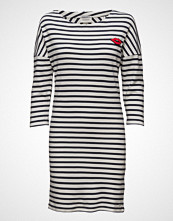 Maison Scotch 3/4 Sleeve Sweat Dress With Button Details