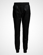 Saint Tropez Pu Pants With Rib & Zippers