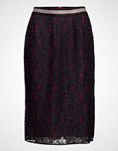 Maison Scotch Lace Pencil Skirt With Contrast Lining