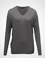 Violeta by Mango Embossed Embellishment Cotton Sweater
