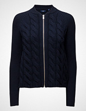 Gant O1. Lambswool Cable Zip Jacket