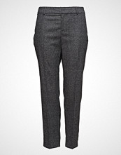 Violeta by Mango Prince Of Wales Wool-Blend Trousers