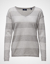 Gant Merino Wool Striped V-Neck