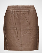 Ilse Jacobsen Womens Leather Skirt