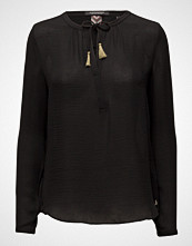 Maison Scotch Silky Feel Blouse With Contrast Neckline