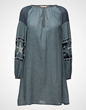 Maison Scotch Sheer Cotton Tunic Dress With Special Embroideries