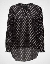 French Connection Rossine Voile Ls Popover Top
