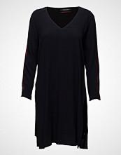 Maison Scotch Viscose Long Sleeve Dress With Side Slit