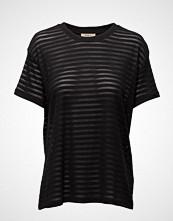 Lee Jeans Sheer Stripe Tee Black