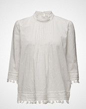 Maison Scotch 3/4 Sleeve Woven Top With Embroidered Star Allover