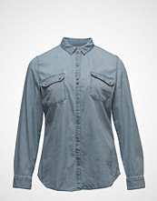 Violeta by Mango Medium Wash Denim Shirt