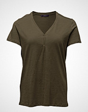 Violeta by Mango Slub-Cotton T-Shirt