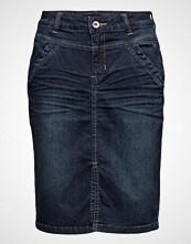 Cream Madisonne Denim Skirt