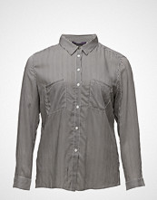 Violeta by Mango Pocket Striped Shirt