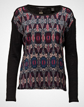 Maison Scotch Long Sleeve Linen Tee With Photoprinted