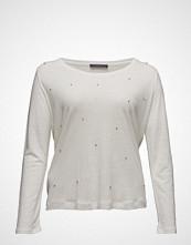 Violeta by Mango Beaded Linen-Blend T-Shirt