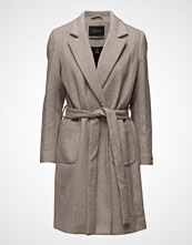 Scotch & Soda Wrap Over Coat In Soft Wool Blend Qualit